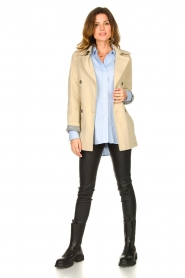 Set |  Short cotton trench coat Chrissy | beige  | Picture 4