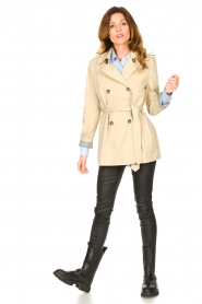 Set |  Short cotton trench coat Chrissy | beige  | Picture 3