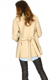 Set |  Short cotton trench coat Chrissy | beige  | Picture 7