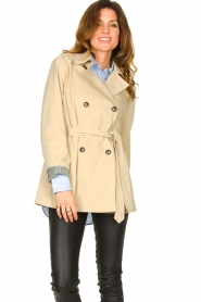 Set |  Short cotton trench coat Chrissy | beige  | Picture 2