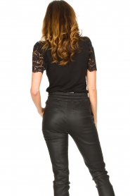 Set |  Top with lace sleeve Claire | black  | Picture 7