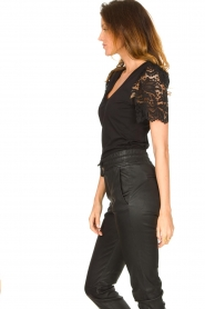 Set |  Top with lace sleeve Claire | black  | Picture 6