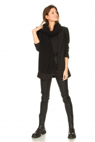 Set |  Top with lace sleeve Claire | black  | Picture 3