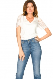 Set |  Top with lace sleeve Claire | white  | Picture 4