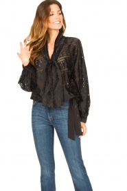 Second Female |  Semi sheer top Harlie | black  | Picture 2