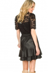 Set |  Leather skirt with ruffles Fie | black  | Picture 7