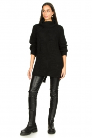 Aaiko |  Faux leather leggings Peach | black  | Picture 2