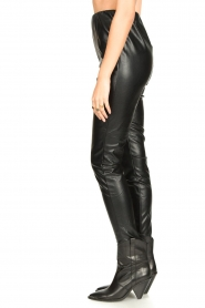 Aaiko |  Faux leather leggings Peach | black  | Picture 5