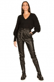 Aaiko |  Faux leather pants Pamalla | black  | Picture 3