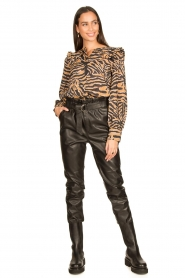Aaiko |  Faux leather pants Pamalla | black  | Picture 2