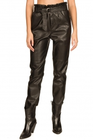 Aaiko |  Faux leather pants Pamalla | black  | Picture 6