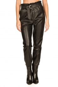 Aaiko |  Faux leather pants Pamalla | black  | Picture 5