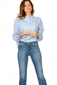 Set |  Cotton blouse Fay | blue  | Picture 5