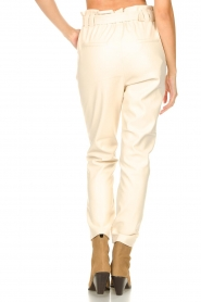 Aaiko :  Faux leather pants Pamalla | natural - img7