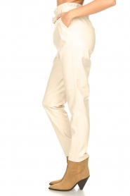 Aaiko :  Faux leather pants Pamalla | natural - img6