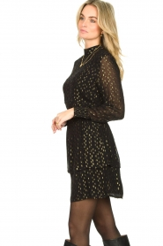 Aaiko |  Lurex printed dress Gabry | black  | Picture 6