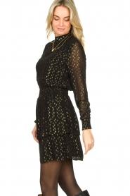Aaiko |  Lurex printed dress Gabry | black  | Picture 5