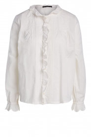 Set |  Blouse with ruffles Filou | natural