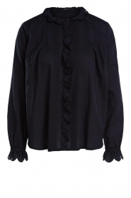 Set |  Blouse with ruffles Filou | black  | Picture 1