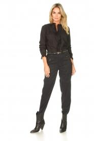 Set |  Cotton blouse with ruffles Filou | black  | Picture 3