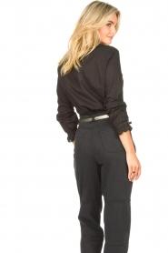 Set |  Cotton blouse with ruffles Filou | black  | Picture 6