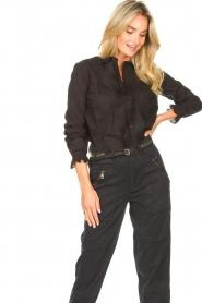 Set |  Cotton blouse with ruffles Filou | black  | Picture 2
