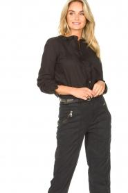Set |  Cotton blouse with ruffles Filou | black  | Picture 4