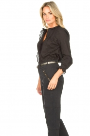 Set |  Cotton blouse with ruffles Filou | black  | Picture 5