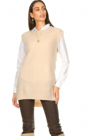 Aaiko |  Knitted spencer Mava | beige  | Picture 4