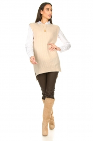 Aaiko |  Knitted spencer Mava | beige  | Picture 3