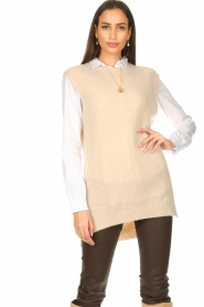 Aaiko |  Knitted spencer Mava | beige  | Picture 2