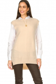 Aaiko |  Knitted spencer Mava | beige  | Picture 5