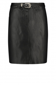 Aaiko |  Faux leather skirt Penina | black  | Picture 1