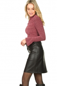 Aaiko |  Faux leather skirt Penina | black  | Picture 4