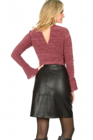 Aaiko |  Faux leather skirt Penina | black  | Picture 5