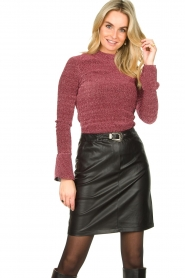 Aaiko |  Faux leather skirt Penina | black  | Picture 2