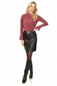 Aaiko |  Faux leather skirt Penina | black  | Picture 3
