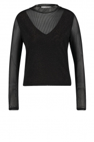 Aaiko |  See-through top Diaz | black  | Picture 1