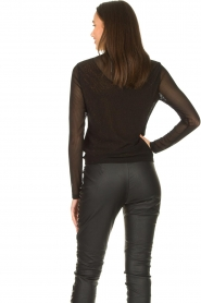 Aaiko |  See-through top Diaz | black  | Picture 6