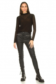 Aaiko |  See-through top Diaz | black  | Picture 3