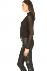 Aaiko |  See-through top Diaz | black  | Picture 5