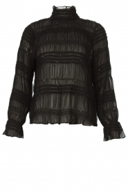 Aaiko |  Smocked blouse Chava | black  | Picture 1
