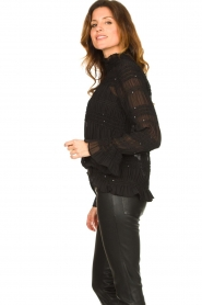 Aaiko |  Smocked blouse Chava | black  | Picture 5