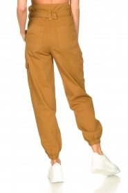 Set |  Cotton paperbag pants Fauve | brown  | Picture 6
