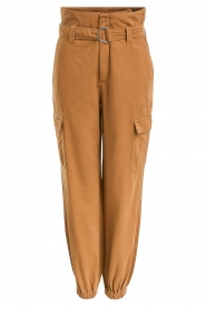 Set |  Cotton paperbag pants Fauve | brown  | Picture 1