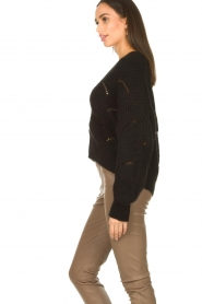 Aaiko |  Open work cardigan Aria | black  | Picture 6