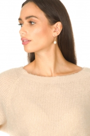 Aaiko :  Boat neck sweater Michelle | natural - img8