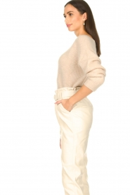 Aaiko :  Boat neck sweater Michelle | natural - img6