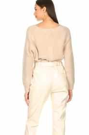 Aaiko :  Boat neck sweater Michelle | natural - img7