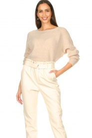 Aaiko :  Boat neck sweater Michelle | natural - img2